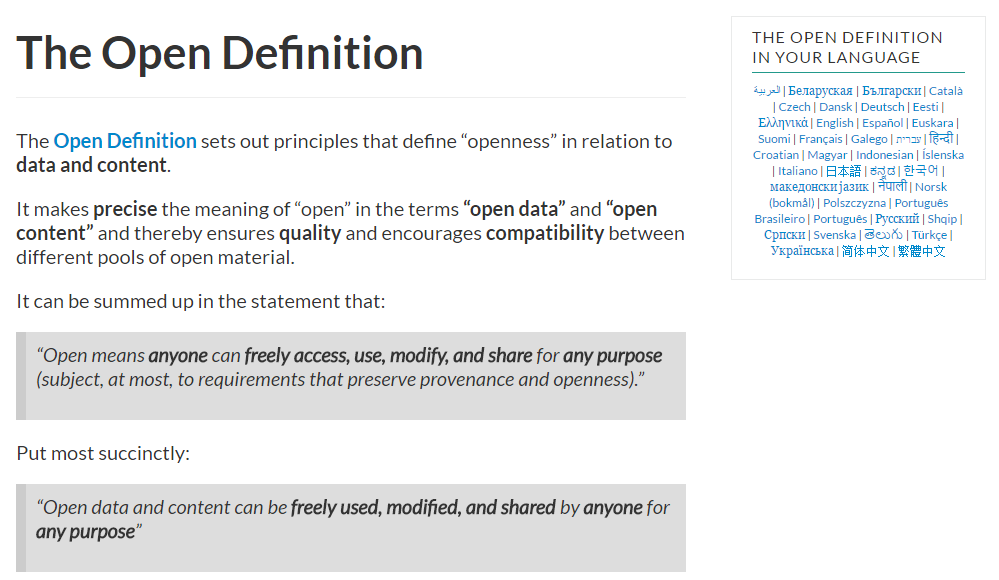 open-definition